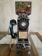Vintage Pay Phone..automatic Electric.....mint Condition....very Rare Free Ship