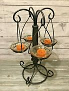 Partylite Global Fusion Tealight Tree Candle Holder W/ Candles