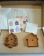 Martha By Mail Stewart Copper Cookie Cutters - Little House And Oh Christmas Tree