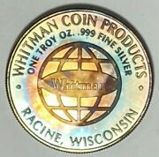 1987 Whitman Red Book 41st Edition 1 Ounce .999 Silver Bullion Round Medal Toned