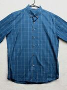 Local Mode Adult Blue Large Long Sleeve Button-down Shirt Mens