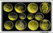 Canada 2017 -150 Set Of 12 Plated Gold Coins 24k Unc