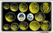 Canada 2017 -150 Set Complet 14 Conis 12 Plated Gold Coins 24k Unc+2 Coloured