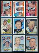 Lot 9 1969 Topps 376 641 567 478 29 51 33 321 Signed Autograph Ar62 Swsw6