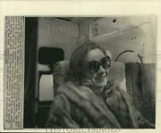1974 Press Photo Robin Orban Sits Aboard Airliner At Kennedy Airport New York