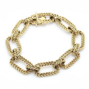 Succo 14k Yellow Gold Double Rope Oval Link Bracelet