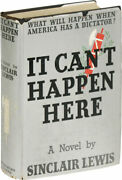 Sinclair Lewis-it Canand039t Happen Here-1935-1st/1st Ed-near Fine/vg+ Dj-dystopian