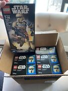 1 Lot Of 6 Box Sets Of Lego Star Wars Buildable Figures Scarif Stormtrooper