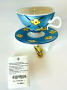 Radko Very Rare 2001 Vintage German Sips And Saucers Clip On Ornament W/tag