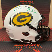 Brett Favre And Aaron Rodgers Signed Authentic F/s Speed Packers Helmet Fanatics