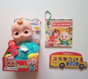 Cocomelon Musical Bedtime Jj Doll Yes Yes Vegetables Wheels On The Bus Books