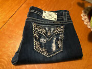 Buckle Miss Me Mid Rise Easy Boot Cut Jeans 34 X 30 Very Nice
