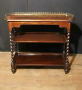 Antique Regency Whatnot Table Sideboard Rosewood Candy Twist Legs
