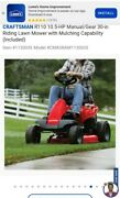 2019 Craftsman R110 10.5hp 30 Riding Lawn Mower With Mulching Package 10 Hrs
