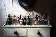 Antique Large Mixed Collection Forty-four 19thc-20thc Glass Apothecary Bottles