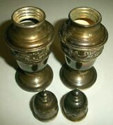 Gorham Sterling Silver 1138 Salt And Pepper Shakers 4 1/2 Tall See Pics