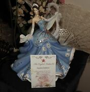English Ladies Co Figurine - Sapphire Radiance New In Box And Cert Royal Doulton