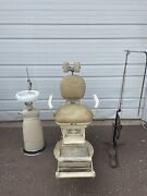 Antique Ss White Dental Mfg Co Dental Chair With Pedestal And Foot Wheel