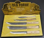 Vintage Case Xx 5 Pc. Old Forge Fixed Blade Camp Cook-out Utility Knife Set 405