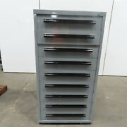 Equipto 9 Drawer Industrial Parts Tool Storage Shop Cabinet 30x28x59