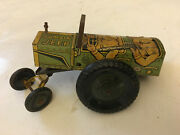 Vintage Marx Toy Jumpin Jeep 22c Wind Up Tin Litho Army Military 1940s For Parts