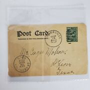 Capt John Smith 1 One Cent Stamp Cancelled On A 1907 Postcard Pa And Ma