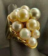 Pearl Bouquet Gold Ring