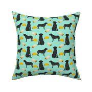 Green Taco Burrito Dog Labrador Throw Pillow Cover W Optional Insert By Roostery