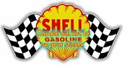 Shell Gasoline Contour Cut Vinyl Decals Sign Stickers Motor Oil Gas Globes