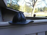 Cairns Firemen Leather Fire Fighters Helmet Good Used Condition