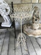 Antique French Wire Plant Stand Stunning Patina 35andrdquo Tall