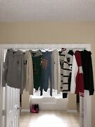 Polo Lot Of 8 Sweaters And 1 Full Sweatsuit Size 8 Small Mint