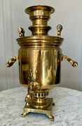 Imperial Russian 20 Brass Samovar Made In Tula By Batashev