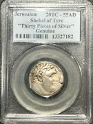 Jerusalem Shekel Of Tyre 20bc-55ad Biblical 30 Pieces Of Silver Pcgc Genuine