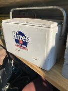 Vintage Hires Cooler Ice Chest Embossed W/tray Original