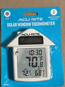 Acurite Solar Window Thermometer Indoor/outdoor With Clock Brand New In Package
