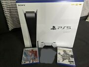 Sony Playstation 5 Disc Bundle - 2 Games 1yr Subscription - New - In Hand