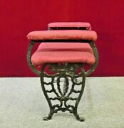 Piano Bench Art Deco With Arms Wrought Iron Fireside Vanity