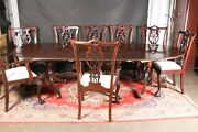 Regency Table Chippendale Dining Chairs Eight Drop Seat