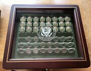America The Beautiful State Quarters Coins And Case Danbury Mint, Uncirculated