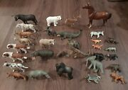 Huge Schleich Animal Lot Hippo Turtle Bull Bear Tiger Dogs Fox Leopard + More 31