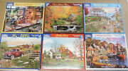 White Mountain Puzzles 1000 Piece Plus Others Lot Of 15 Puzzles