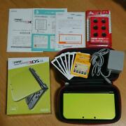 3ds New Nintendo 3ds Ll Lime Black Substance With Keten Case Japan