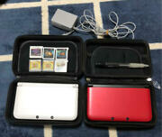 3ds Nintendo 3ds Ll White Red Substance Case Soft Japan