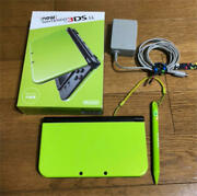 3ds New Nintendo 3ds Ll Lime Black With Charger Japan
