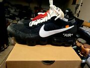 Nike Air Vapormax And039off-white 12 - Black/white - Aa3831-001 New - Read
