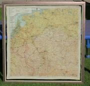 Ww2 Two Sided Paratrooper Silk Map Sheet C And D Holland Belgium France Germany
