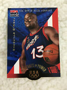 Shaquille Oneal Die Cut Team Usa Upper Deck 1996 Lakers Basketball Card