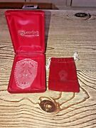 Waterford Crystal 1987 Four Calling Birds Christmas Ornament W/ Velvet Pouch