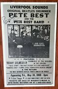 The Beatles Hollies Pete Best Signed Rare 2008 Kent Boxing Style Concert Poster